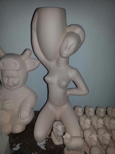 bizcochos de ceramica sin pintar varios modelo y tamaño