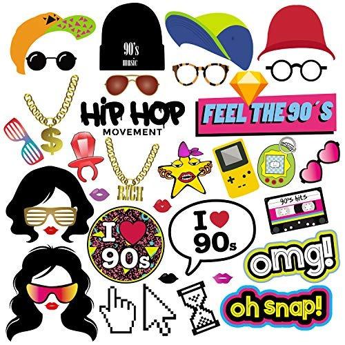 Bizoerade juego de accesorios de fiesta para hip hop jpg 500x500 Accesorios  de hip hop 4a4c025ce5b