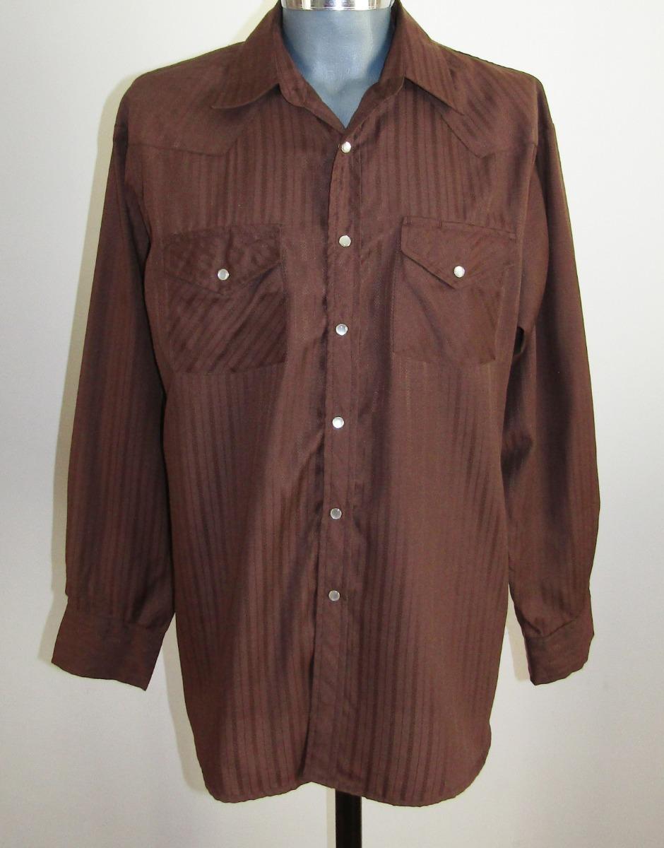 23be8c5f8e Bj-r Camisa Vaquera   Western Shirt Talla L -   299.00 en Mercado Libre