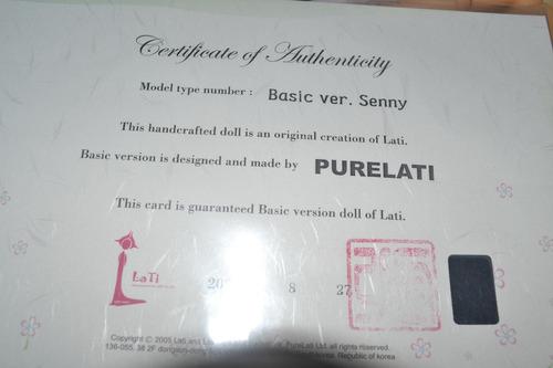 bjd latidoll green senny legitima com certificado 30 cm