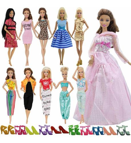 bjdbus lote 15 artículos 5 juegos de ropa de moda vestido co