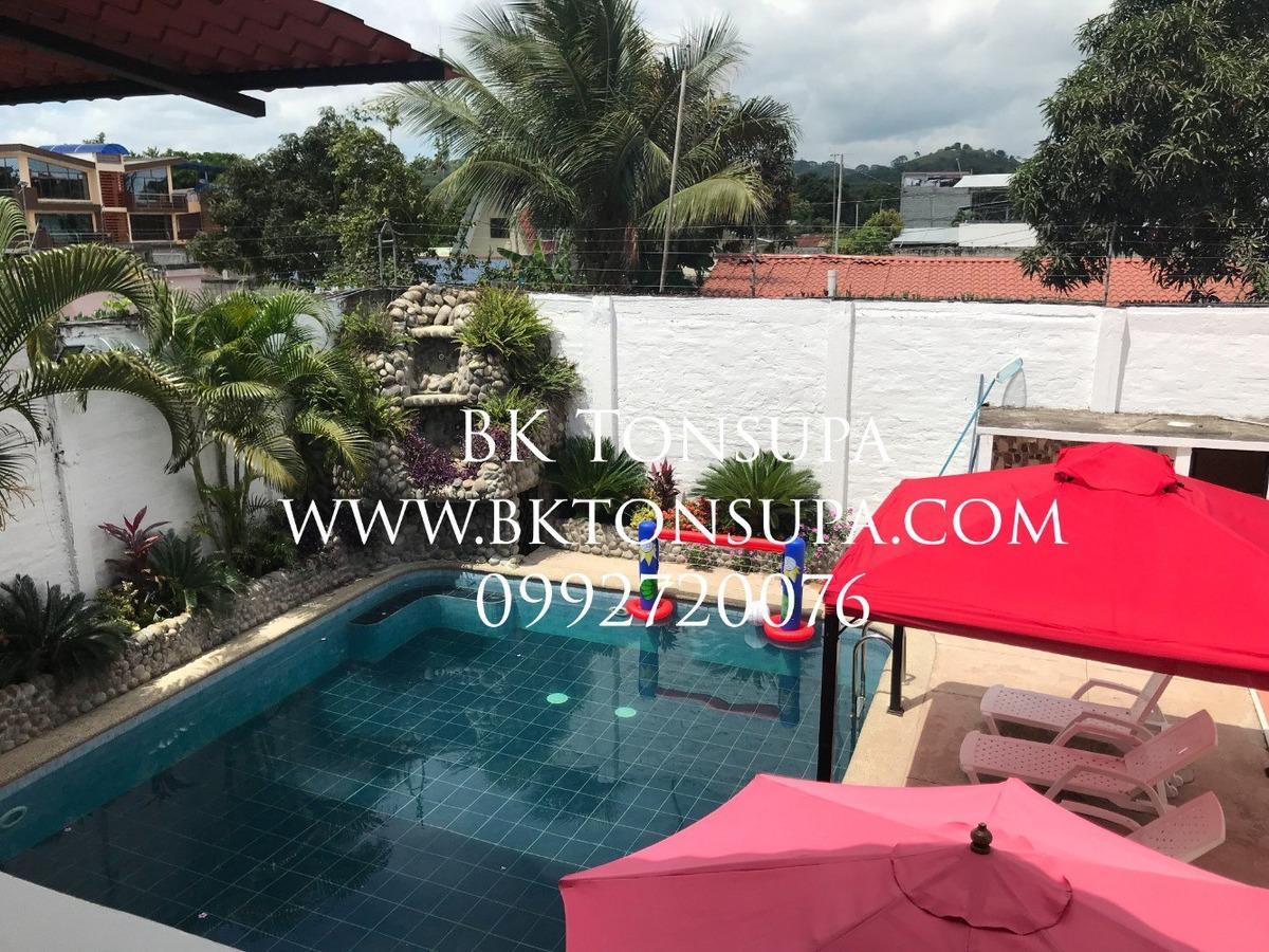 bk tonsupa casa con piscina en tonsupa