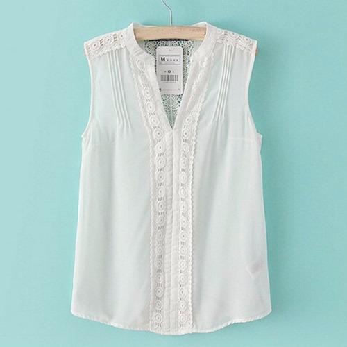 bl1152 blusa blanca cuello v, it girls colombia