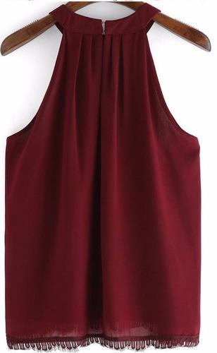 bl1194 blusa vino tinto cuello alto - it girls colombia