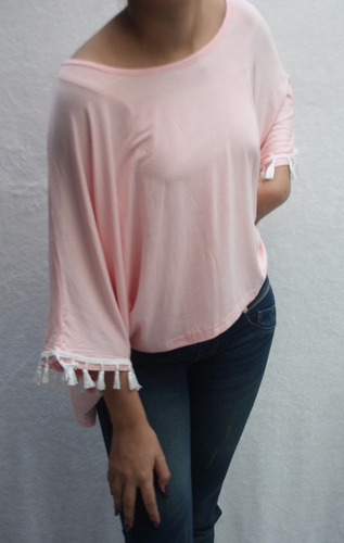 bl1229 blusa casual bianca rosada - it girls colombia