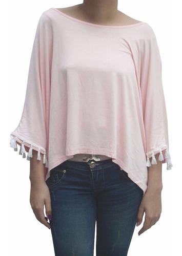 bl1229 blusa casual bianca rosada - it girls colombia