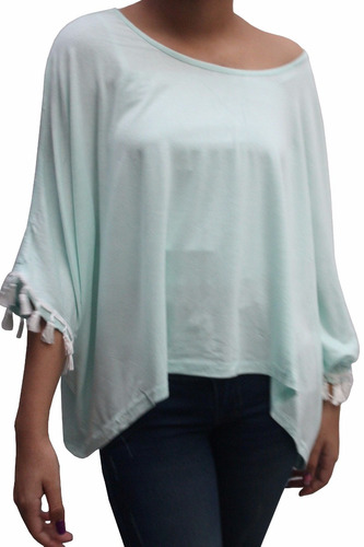 bl1230 blusa casual bianca verde - it girls colombia