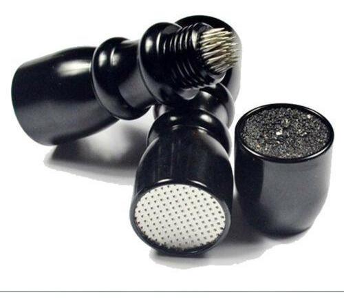 black - 3 en 1 billar pool cue punta shaper / scuffer/a-3260