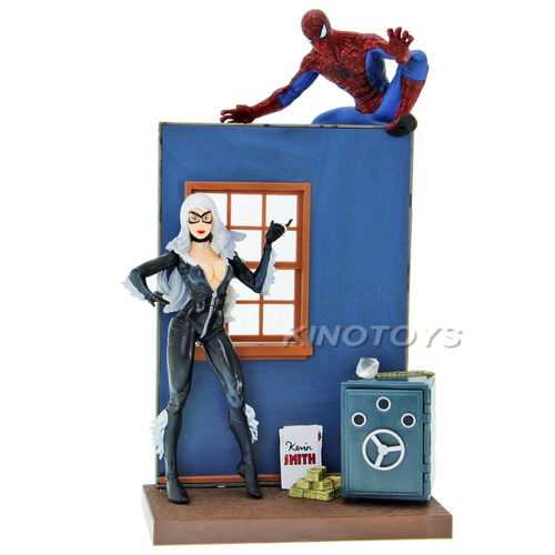 black cat e homem aranha spider man marvel select ds-19907