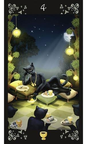 black cats tarot, tarot de gatos negros. por maria kurara