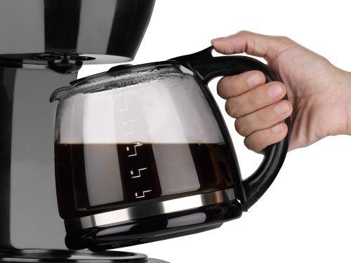 black decker 12 tazas cafetera programable, negro