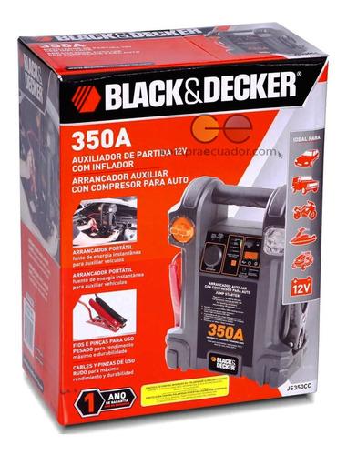 black & decker arrancador auxiliar con compresor para auto