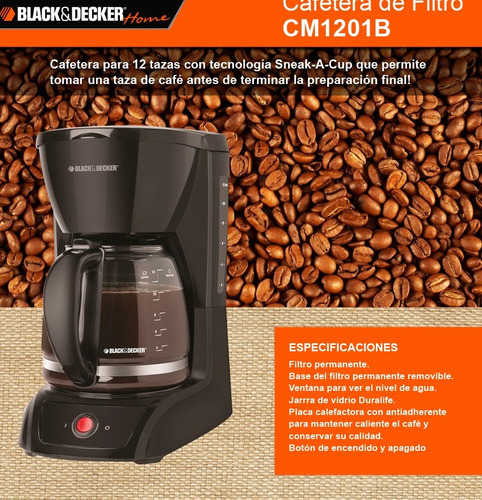 black decker cafetera