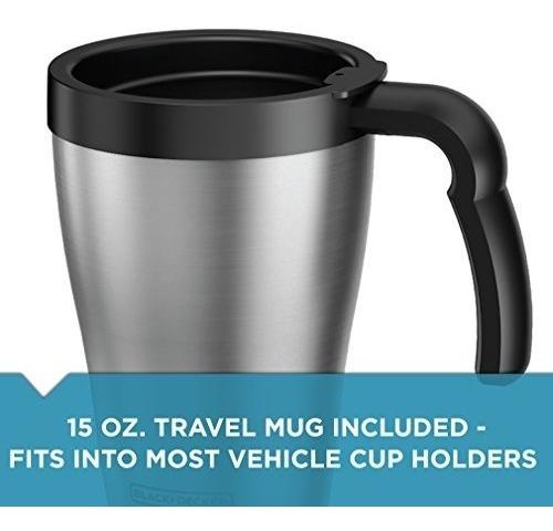 black + decker cafetera personal brew 'n go con taza de viaj