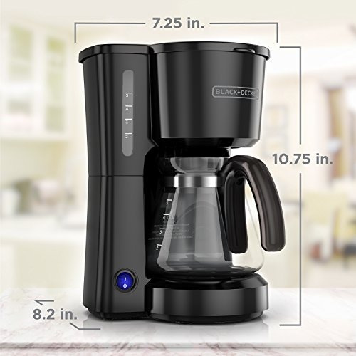black + decker cm0700bz cafetera electrica  5 tazas