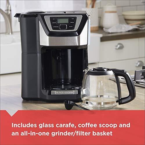 black+decker cm5000b - cafetera (independiente, negro, plata