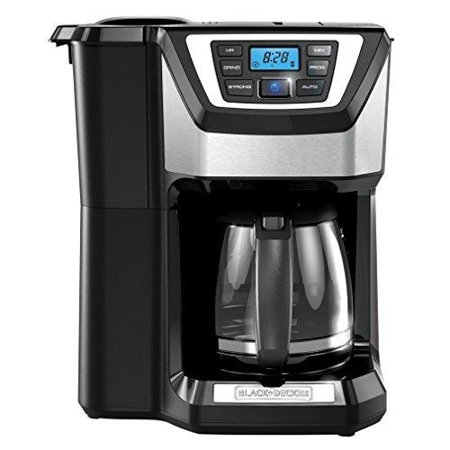 black + decker molino de 12 tazas y cafetera, negro, cm5000