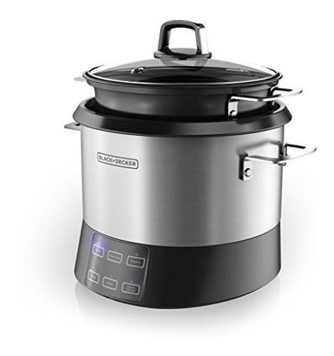 black + decker rcr520s olla de cocción lenta al vapor 20 tz