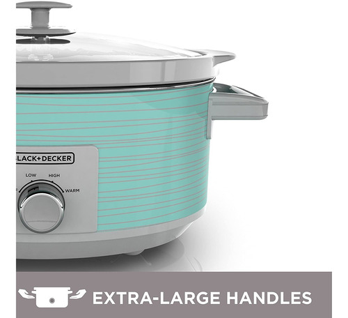 black+decker sc2007d olla lenta, 7 cuartos de galon, color v