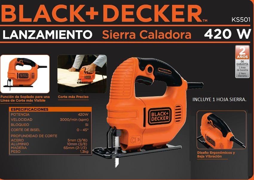 Black Decker Sierra Caladora De Mano 420w Ks501-ar
