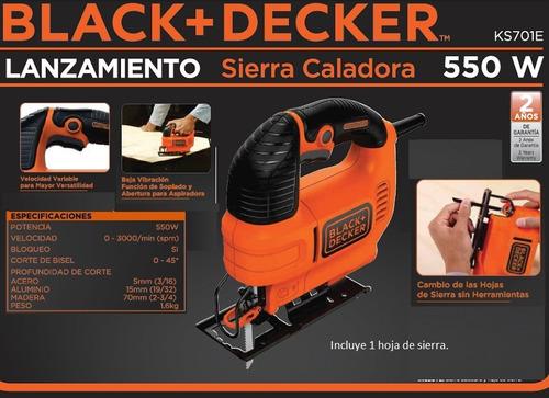 Black Decker Sierra Caladora De Mano Ks701e 550w
