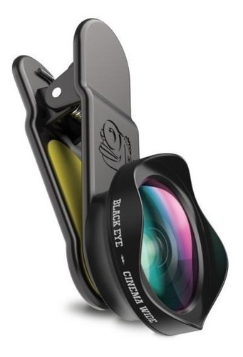 black eye lente cinema ojos de pez para iphone y android