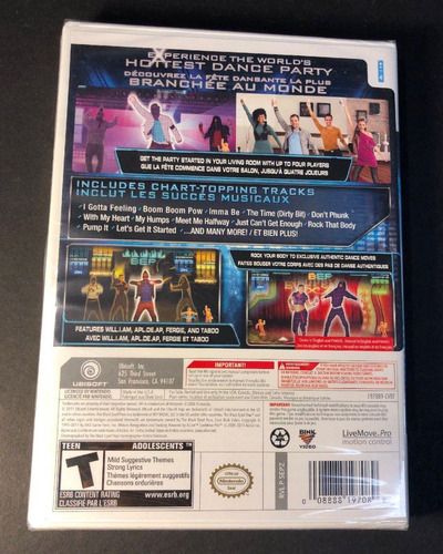 black eyed peas experience juego wii