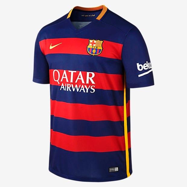 Black Friday Camisa Barcelona Home 15 16 - Pronta Entrega - R  89 f5bac3c03f9c3