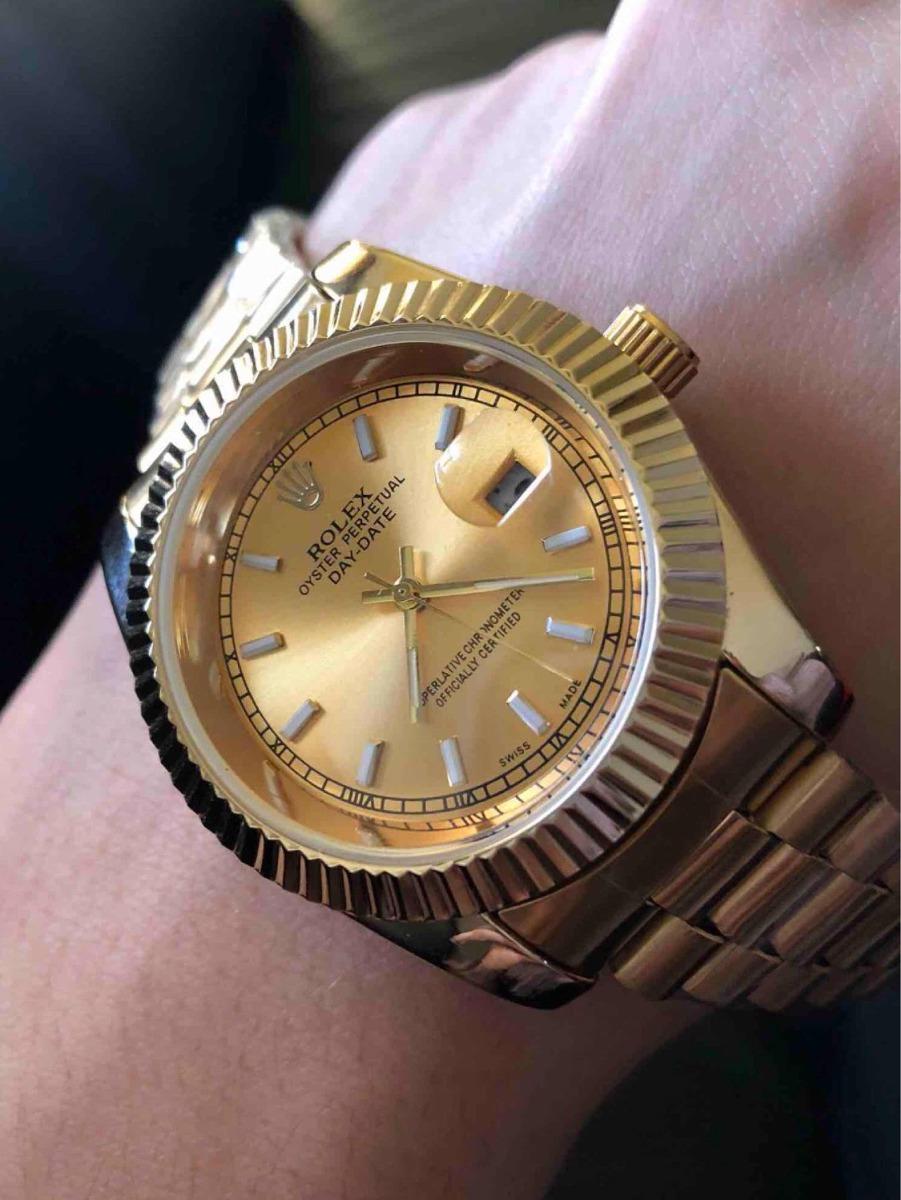 a61cab5286b Black Friday Relógio De Luxo Unissex Relógio Gold - R  198
