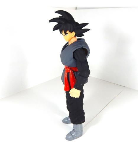 black goku bootleg dragon ball super figura luz led 25cm