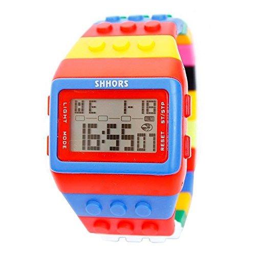 993f557088f5 Black Mamut Reloj Shhors Digital Unisex Bloque De Múltiples ...