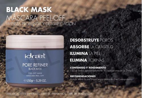 black mask idraet mascara peel off elimina los puntos negros