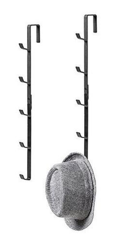 black metal perchero para puerta sombrero y bolso perchero c