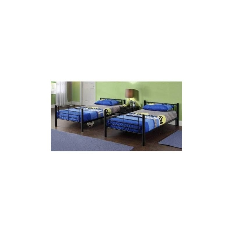 Black Metal Twin-over-twin Bed, Cama Multifuncional, Se Pued ...