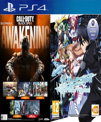 black ops 3 awakening dlc & sword art online re digital ps4