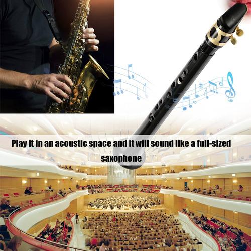 black pocket sax mini saxofón portátil pequeño saxofón