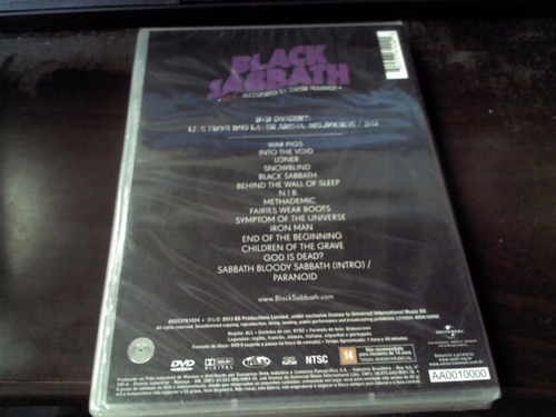 black sabbath - live... gathered in their masses (novo/lacra