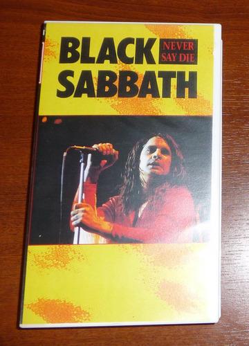 black sabbath | never say die | vhs