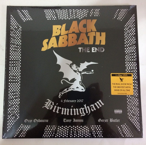 black sabbath the end (live in birmingham) gatefold180g lps