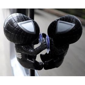 Black Spiderman Hombre Araña Negro Trepando Escalando Ventan