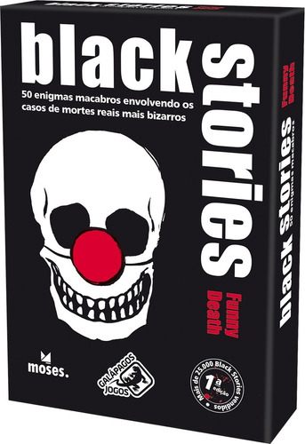 black stories - funny death - galápagos jogos cartas game