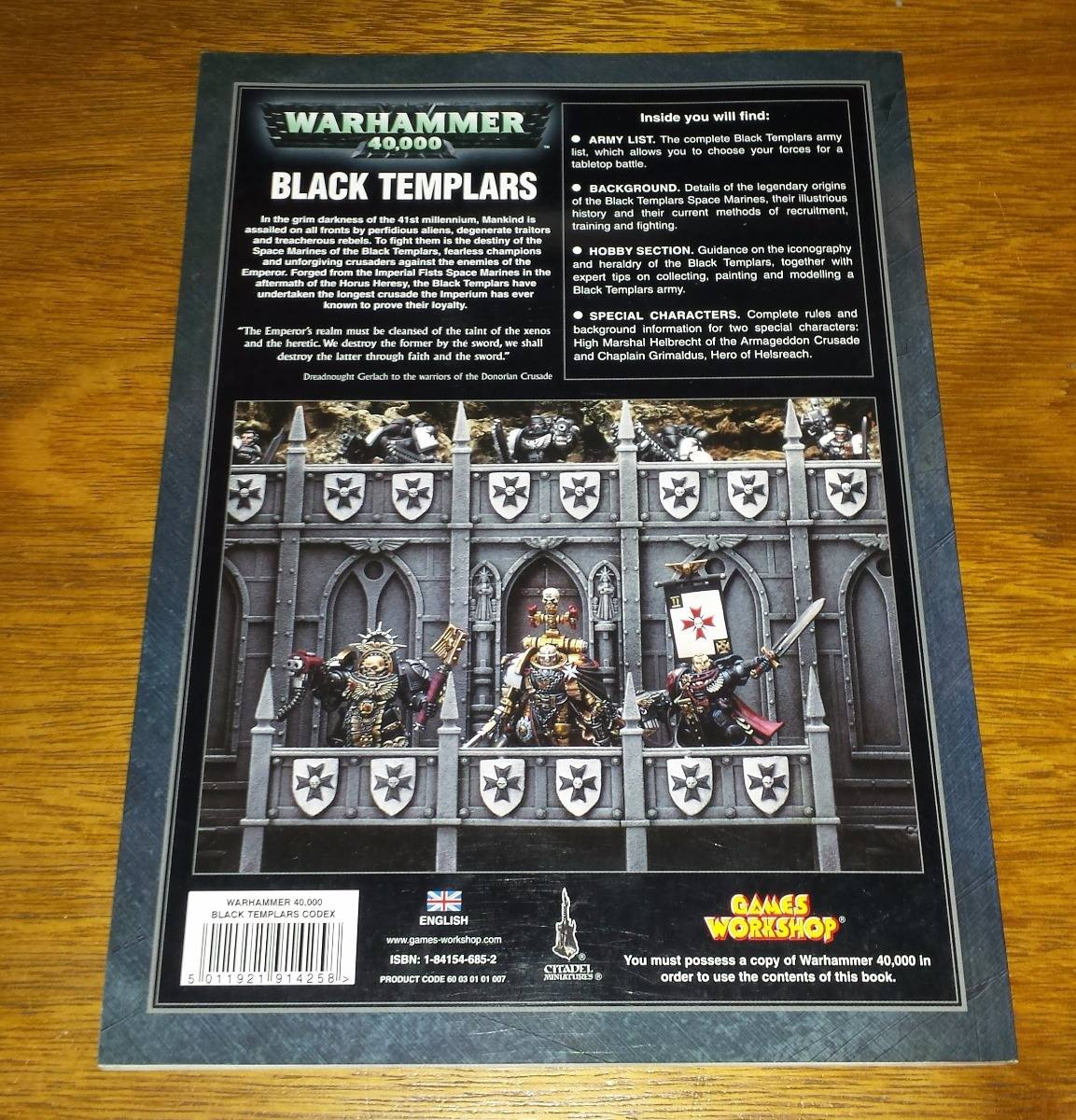 Black Templars Codex Warhammer 40k Games Workshop Rulebook