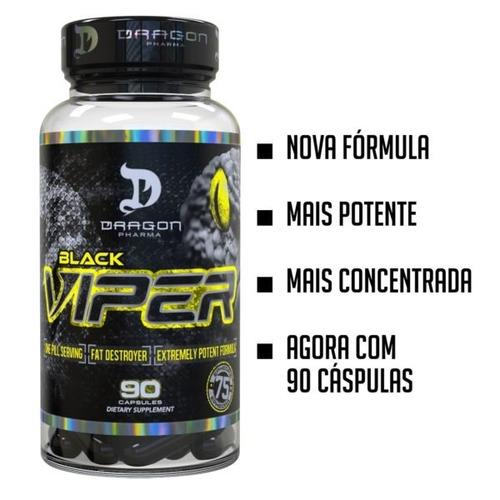 black viper 90 cap - dragon pharma (original / importado)