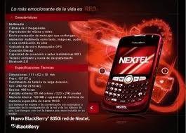 blackberry i8350 nextel rojo en caja version 5.2 no watsap
