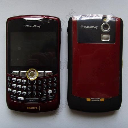 blackberry nextel curve red bordo roja nueva version 5.8