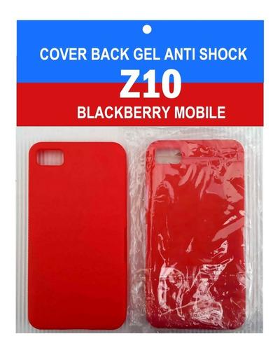 blackberry z10 forros de goma y gel
