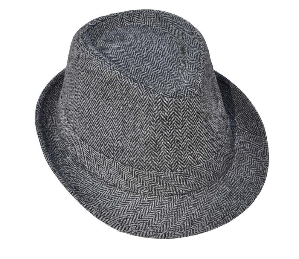 69bc59673b523 Cargando zoom... black charcoal - hombres clásico fedora sombrero ...