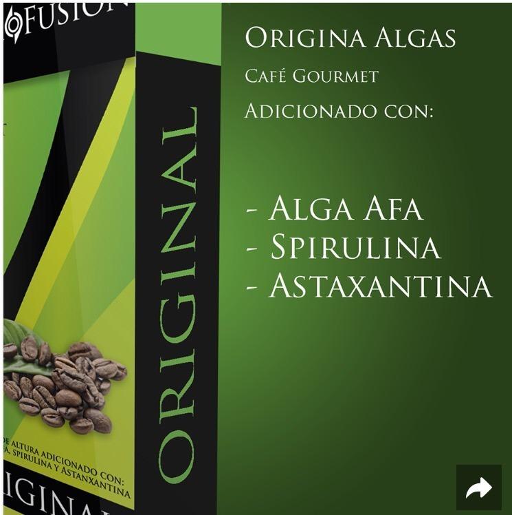 Blackfusion. Blackcoffe. Café Orgánico De Algas Y Hongos