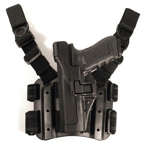 blackhawk! serpa nivel 3 táctico negro pistolera , tamaño