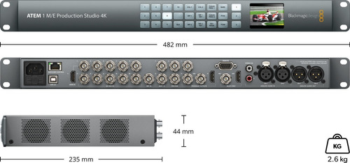 blackmagic atem 1 m/e production studio 4k - pronta entrega